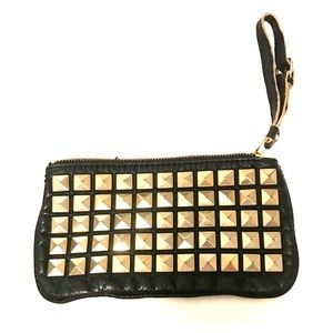 Small black studded wristlet from the Gap